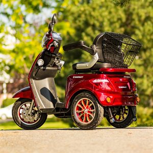 3 WHEEL SCOOTER RW-DRIVE 48V 500 / 800W RED (BOM)