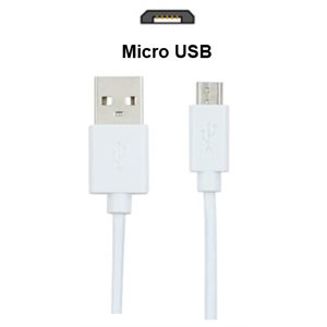 (03188)   Cable Micro USB   6 Pieds  Blanc  Vrac