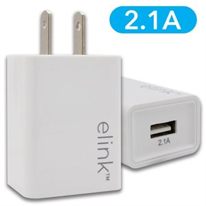 (12)   Chargeur USB mural 2.1 A