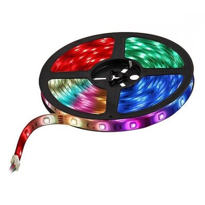 RGB LED STRIP 5050SMD, IP65, 60L-M, 12VDC,   5M