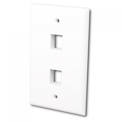 (250-8042) CAT.5 TOW HOLE WALL PLATE